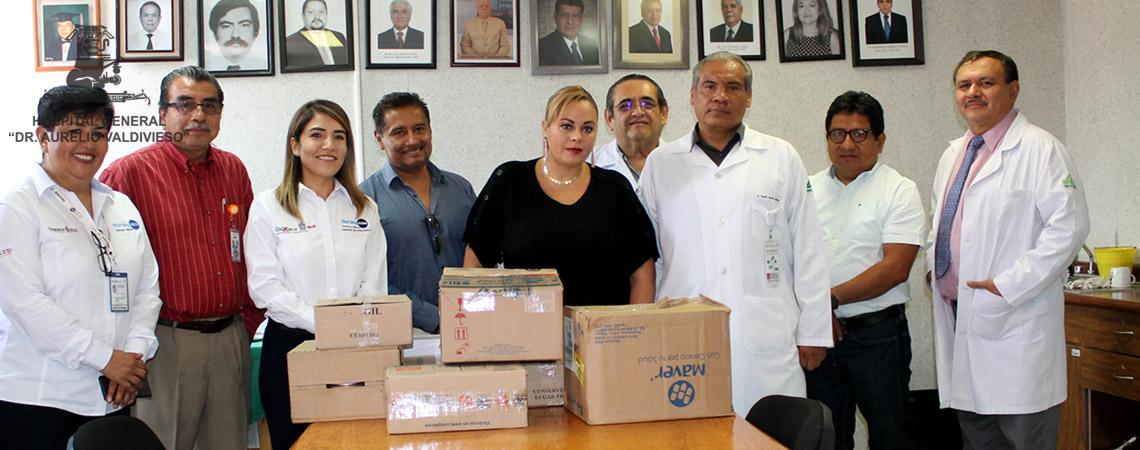 DONA EL DIF MUNICIPAL DE LA CIUDAD DE OAXACA MEDICAMENTOS AL (H.G.D.A.V.)