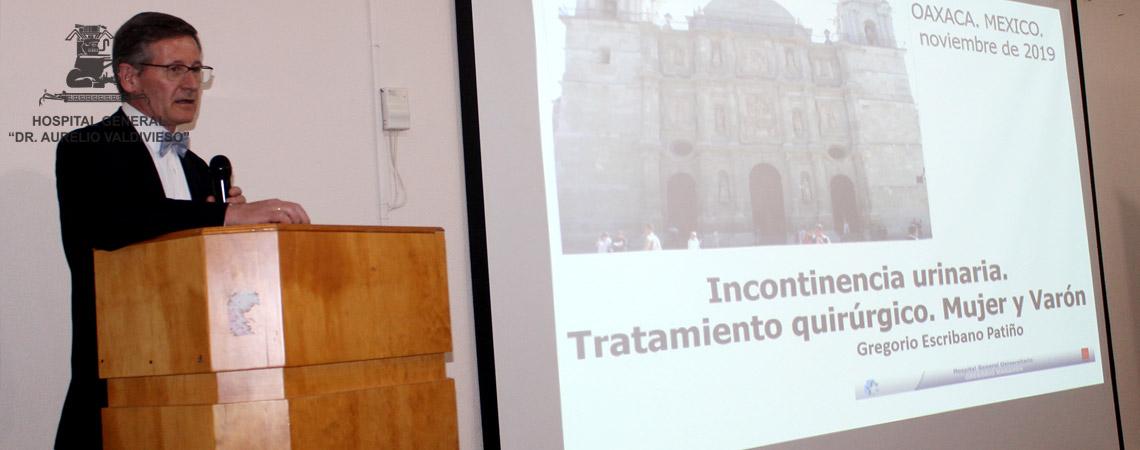 MÉDICOS DE LA UNIVERSIDAD COMPLUTENSE MADRID, ESPAÑA DICTAN CONFERENCIA A PERSONAL MEDICO Y PARAMEDIDO DEL (H.G.D.A.V.)