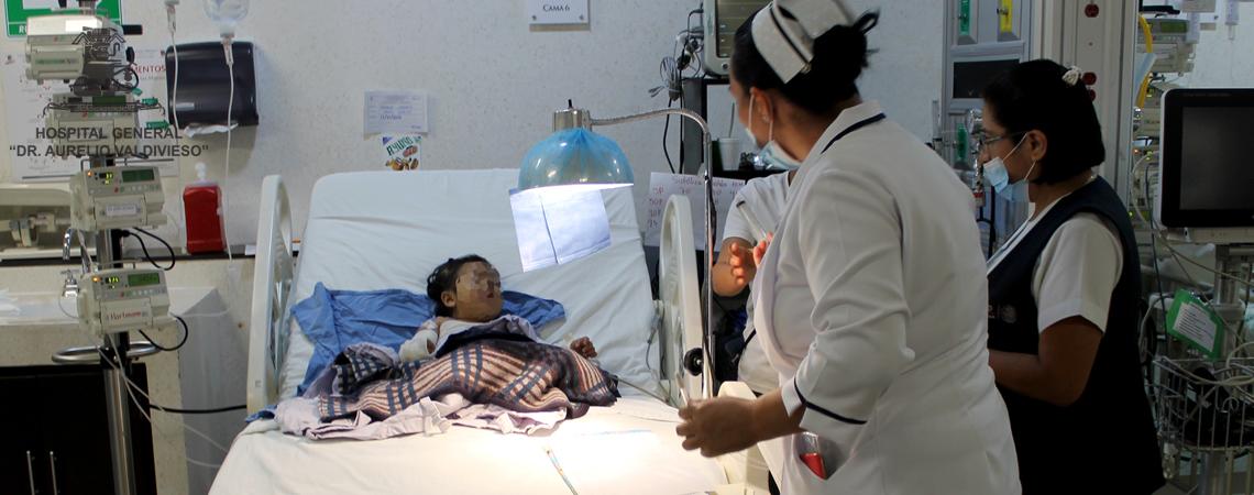 LA INTERVENCION DE MEDICOS PEDIATRAS DEL (H.G.D.A.V.) FUNDAMENTAL PARA CONCRETAR EL TRASLADO DE NIÑA QUEMADA A LOS ESTADOS UNIDOS